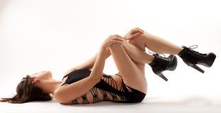 Vestido cortado 'sexy' imagens de stock