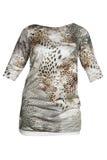 Vestido da forma do leopardo imagem de stock