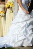 Vestido das noivas durante a cerimónia de casamento Imagens de Stock Royalty Free