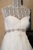Vestido de boda Fotografía de archivo libre de regalías