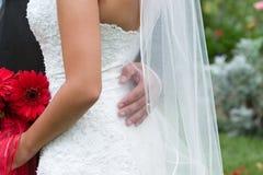 Vestido de boda Imágenes de archivo libres de regalías