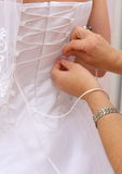 Vestido de boda imagen de archivo