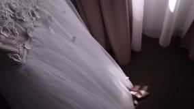 Vestido de boda antes de intentar metrajes