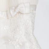 Vestido de boda blanco Foto de archivo libre de regalías