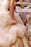 Vestido de boda de la novia Imagen de archivo libre de regalías