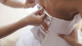 Vestido de boda del cordón metrajes