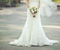 Vestido de boda hermoso Fotografía de archivo