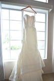 Vestido de casamento Fotografia de Stock Royalty Free