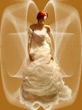 Vestido de casamento. ilustração royalty free