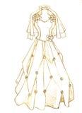 Vestido de casamento ilustração royalty free