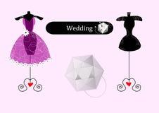 Vestido de casamento abstrato Imagens de Stock Royalty Free