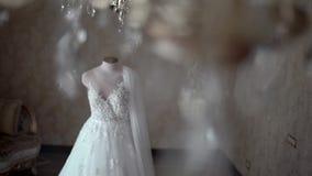 Vestido de casamento bonito video estoque