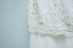 Vestido de casamento branco Fotos de Stock Royalty Free