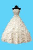 Vestido de casamento branco bonito Imagens de Stock Royalty Free