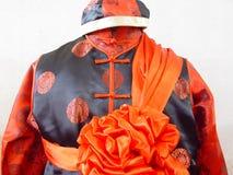 Vestido de casamento chinês Fotografia de Stock Royalty Free