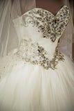 Vestido de casamento Detail-63 fotografia de stock royalty free
