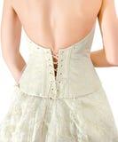 Vestido de casamento - foreshortening de uma parte traseira fotografia de stock royalty free