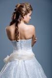 Vestido de casamento no modelo de forma Imagem de Stock