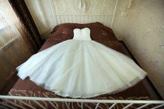 Vestido de casamento nupcial luxúria foto de stock royalty free