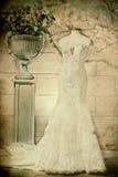 Vestido de casamento perpared para a noiva Foto de Stock Royalty Free