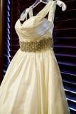 Vestido de casamento Strapless Fotografia de Stock Royalty Free