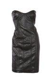 Vestido de couro Strapless Foto de Stock Royalty Free