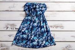 Vestido de flores del vintage sin las correas Imágenes de archivo libres de regalías
