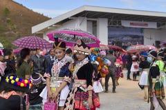 Vestido de Hmong en Año Nuevo Imágenes de archivo libres de regalías