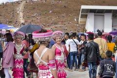 Vestido de Hmong en Año Nuevo Fotos de archivo