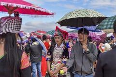 Vestido de Hmong en un Año Nuevo Fotografía de archivo libre de regalías