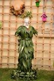 vestido de hojas Imagen de archivo libre de regalías