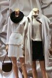 Vestido de la moda del invierno de Women's en maniquíes Imagen de archivo libre de regalías