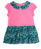 Vestido de la muchacha del niño del bebé aislado foto de archivo libre de regalías