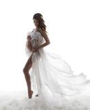 Vestido de la mujer embarazada, concepto de maternidad del embarazo, Wav hermoso Imagenes de archivo