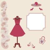 Vestido de la mujer en el maniquí - ejemplo del vector Imágenes de archivo libres de regalías