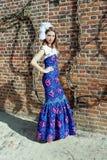 Vestido de las altas costuras de la muchacha Fotografía de archivo libre de regalías