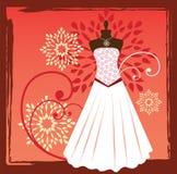 Vestido de las costuras ilustración del vector
