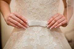 Vestido de los accesorios de la boda Fotos de archivo