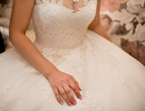 Vestido de los accesorios de la boda Imagen de archivo