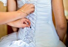 Vestido de los accesorios de la boda Fotografía de archivo libre de regalías