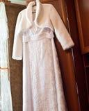 Vestido de los accesorios de la boda Foto de archivo