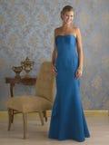 Vestido de noche azul Fotografía de archivo