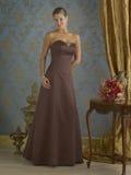 Vestido de noche de Brown Foto de archivo libre de regalías