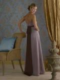 Vestido de noche púrpura Imagen de archivo libre de regalías
