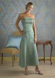 Vestido de noche verde de la menta Imagen de archivo libre de regalías