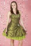 Vestido de partido desgastando da rapariga Foto de Stock