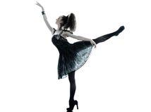Vestido de seda do verão do preto da forma da mulher Fotografia de Stock