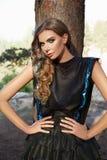 Vestido de sol 'sexy' do cabelo louro do verão da menina da mulher bonita Fotografia de Stock Royalty Free