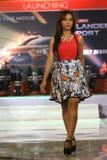 Vestido del desfile de moda retro Fotografía de archivo
