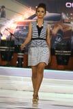 Vestido del desfile de moda retro Imagen de archivo libre de regalías